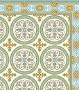 Free Shipping Tiles Pattern Decorative PVC vinyl mat linoleum rug – Color Turquoise And Ocher 812 PVC Rug, Kitchen mat
