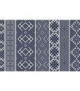 Kilim Rug, kilim Pattern,boho style, boho decor, Decorative PVC, vinyl mat, linoleum rug- dark blue with gray  k- 111
