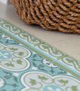 Kitchen mat, Mat, Floor rug, Kitchen décor, Rustic kitchen, Decorative tiles, Designed kitchen, Printed mat, Pvc mat, green- gray- blue, 178
