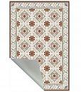 Kitchen vinyl mat Tiles Pattern Decorative  linoleum rug – Color Bordeaux And Gray 210, FREE Shipping