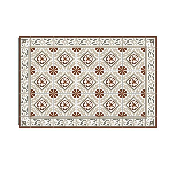 FREE Shipping gift for holidays PVC vinyl mat Carpet Tiles Pattern Decorative linoleum rug Red Bordeaux 105