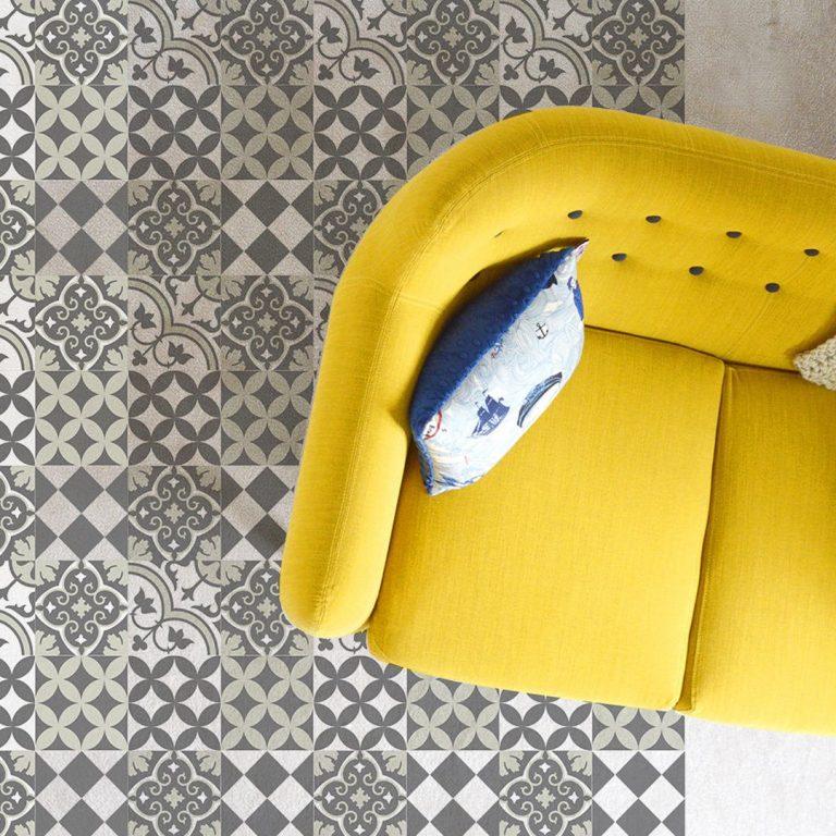 Mat, Floor rug, Kitchen décor, Kitchen mat, Rustic kitchen, Decorative tiles, Designed kitchen, Printed mat, Pvc mat, Gray, no. 312