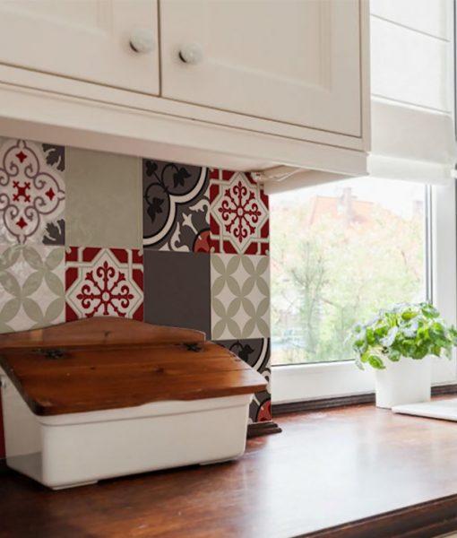 Mix Tile Decals  Kitchen/Bathroom tiles vinyl floor tiles free shipping – design 301