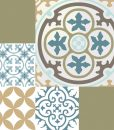 Mix Tile Decals  Kitchen/Bathroom tiles vinyl floor tiles free shipping – design 302