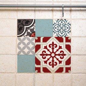 Mix Tile Decals  Kitchen/Bathroom tiles vinyl floor tiles free shipping – design 305