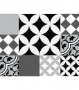 Mix Tile Decals  Kitchen/Bathroom tiles vinyl floor tiles free shipping – design 307