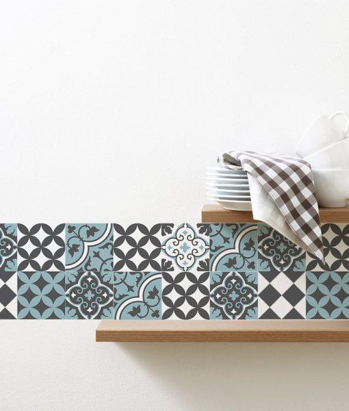 Mix Tile Decals  Kitchen/Bathroom tiles vinyl floor tiles free shipping – design 310