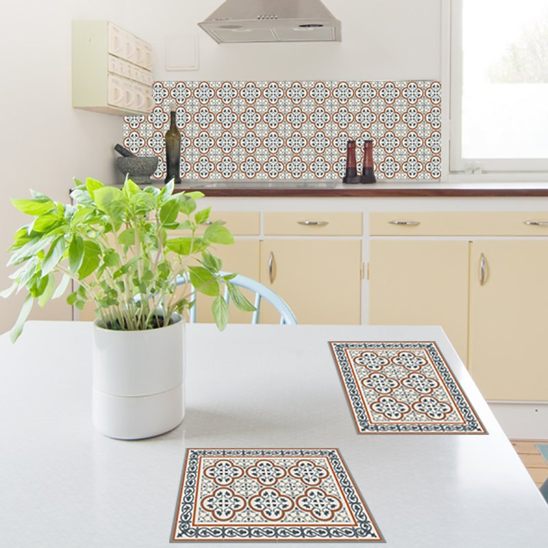 Pvc Placemat Table Wearing Home Gifts Kitchen Décor Placemat Dining Table Wear Decorative Tiles Chrisms Gift Design 179