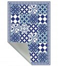 PVC vinyl mat linoleum rug Free Shipping Mix Tiles Pattern 309 – blue