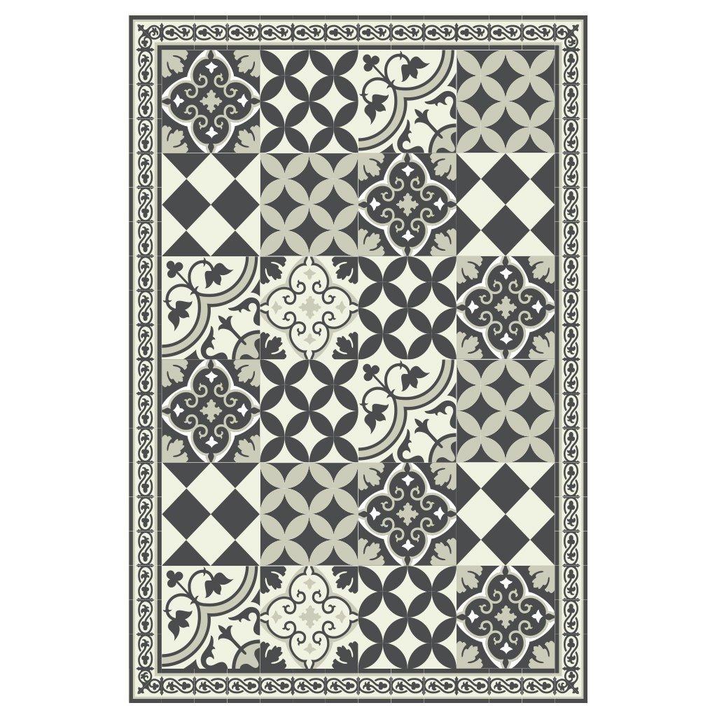Black Gray Kitchen Vinyl Mat Carpet Tiles Pattern Decorative Linoleum Rug 601 Home Decor Handmade Products Fcteutonia05 De
