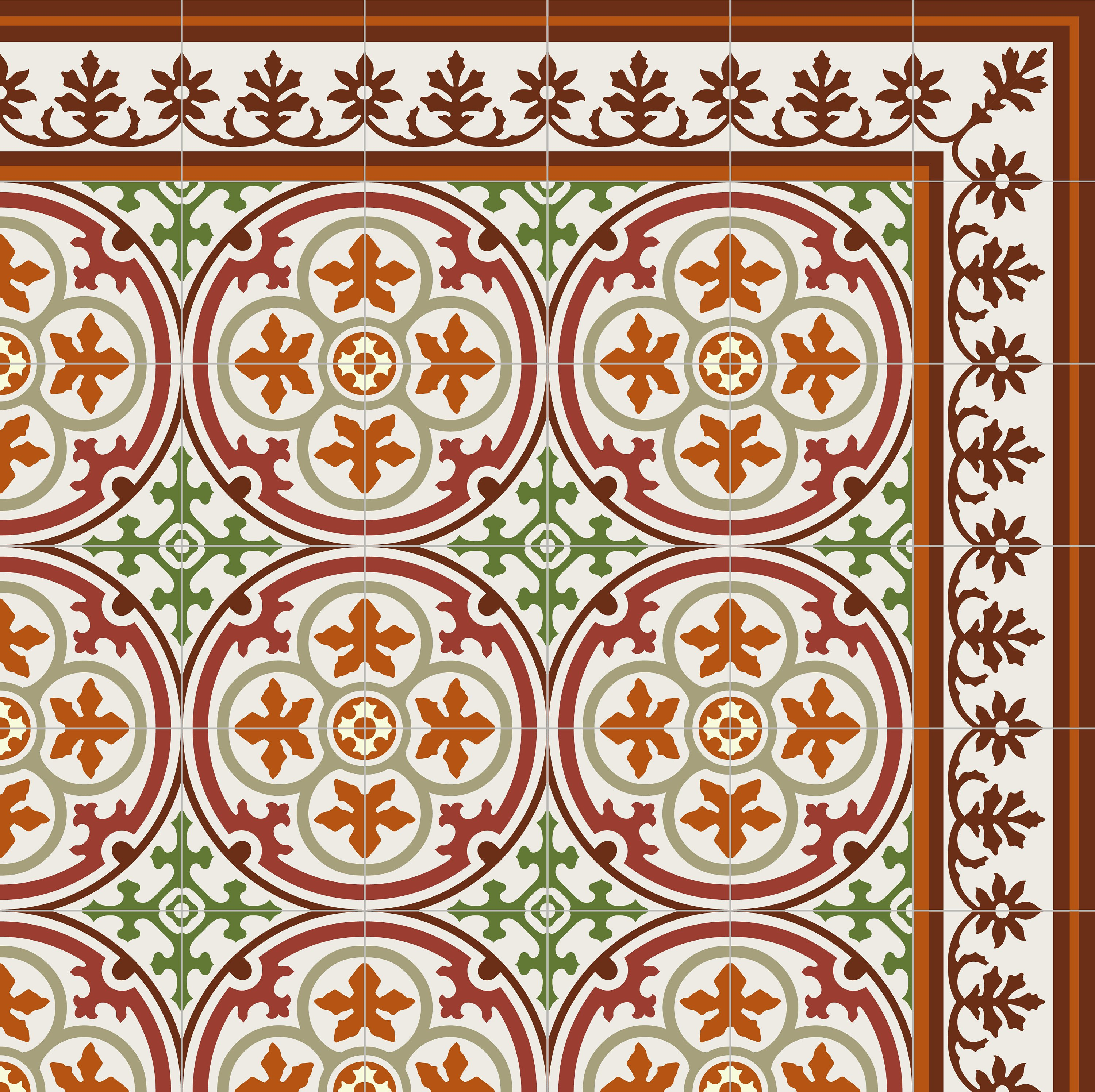 Beliebt PVC vinyl mat Tiles Pattern Decorative linoleum rug , Bordeaux Red JY48