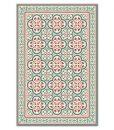 PVC vinyl mat Tiles Pattern Decorative  linoleum rug PVC Rug, Bordeaux And Blue 177 FREE Shipping