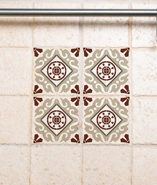 Tile Decals,  Kitchen/Bathroom tiles, vinyl, wall floor tiles, kitchen decoratiom, free shipping – 210