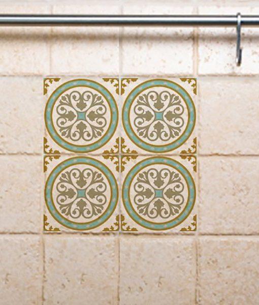 Tile Decals,  Kitchen/Bathroom tiles, vinyl, wall floor tiles, kitchen decoratiom, free shipping – 812