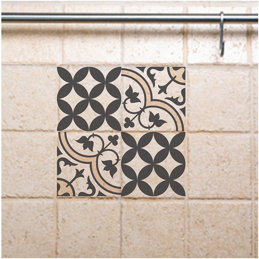 Tile Decals, Kitchen/Bathroom tiles, vinyl, wall floor tiles, kitchen  decoratiom, free shipping- mix gray