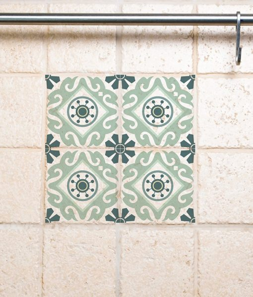 Tile Wall Decals, Traditional  Tiles Stickers, Tiles Decals, Tiles for Kitchen Backsplash / Bathroom – design 211