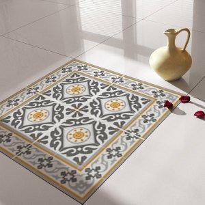 Traditional Tiles - Floor Tiles - Floor Vinyl - Tile Stickers - Tile Decals  - bathroom tile decal - kitchen tile decal - 214