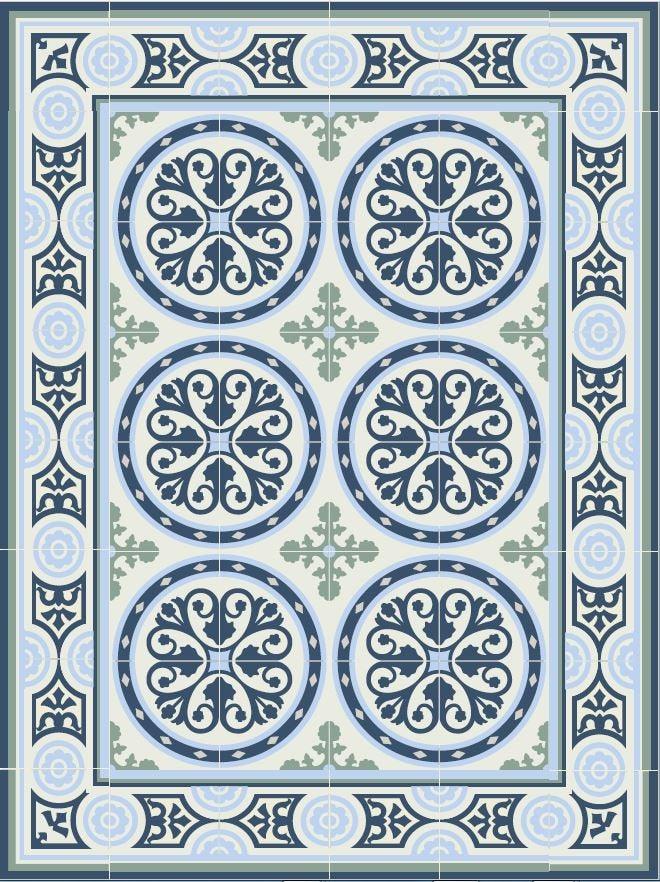 Tiles Pattern Decorative Pvc Vinyl Mat